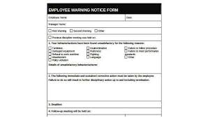 Employee Disciplinary Action Form Gorgeous Sample Written Warning Forms 48 Free Documents In Word PDF