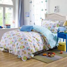 kids twin comforter set blue cartoon sheep plant cotton bedding bed clothes for 1