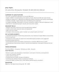 Mechanic Resume Examples 74 Images Mechanic Resume Template 6