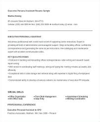 Best Executive Assistant Resumes Executive Personal Assistant Resume Emelcotest Com