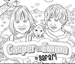 Kleurplaat Voor De Film Casper En Emma Op Safari Bakker