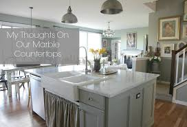 i have found that so many people have very strong opinions about having marble countertops