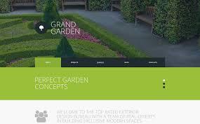 Small Picture Garden Design Responsive Website Template 51784
