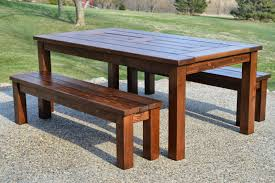 table and bench attractive 8ft timber garden set intended for 11