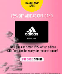 expired swych save 15 on adidas gift cards when using promo code 3point limit 1 gc galore