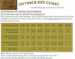 Outback Trading Company Size Chart Discount Outback Trading Company Dusters And Oilskins And