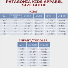 Patagonia Shorts Size Chart Patagonia Size Chart Bedowntowndaytona Com