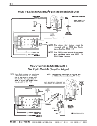 msd ignition wiring diagrams com msd 7 series to gm 4 5 and 7 pin hei part 2