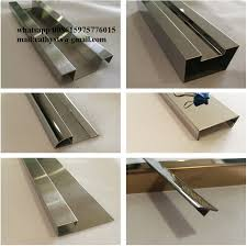 we supply stainless steel channel trim angle trim shape u j z l t trim and other decorative trim in grade 304 304l 316 316l