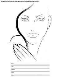 Unbiased Blank Stila Face Chart Blank Face Template For