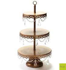 chandelier 3 tier dessert stand three tiered wedding cake stands