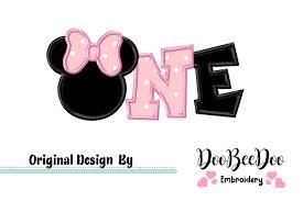 Safari Mickey Applique Design Minnie One Applique Machine Embroidery Design