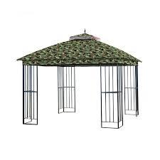 garden winds replacement canopy for garden treasures steel gazebo standard 350 camouflage green