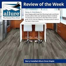 allure flooring reviews allure 6 in x in dove maple luxury vinyl plank flooring sq ft allure flooring reviews