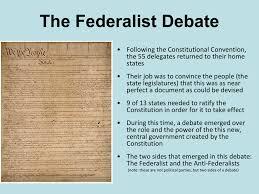 The Federalist Debate