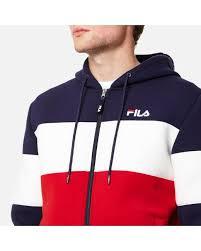 fila queens hoodie. fila | blue blackline men\u0027s hugo zip through hoody for men queens hoodie