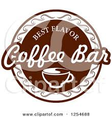 coffee bar clipart. Exellent Coffee Clipart Of A Best Flavor Coffee Bar Design  Royalty Free Vector  Illustration By Tradition SM And