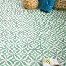 home vinyl flooring cement tile emerald green for kitchens bathrooms hallways water resistant