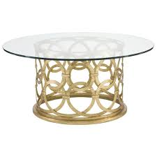 best round gold coffee table with 10849