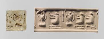 the origins of writing essay heilbrunn timeline of art history cylinder seal and modern impression three pigtailed ladies double handled vessels