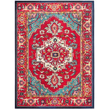 safavieh monaco red turquoise 8 ft x 11 ft area rug