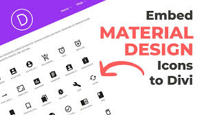 Java Material Design Look And Feel Embed Material Design Icons To Divi Divi Space