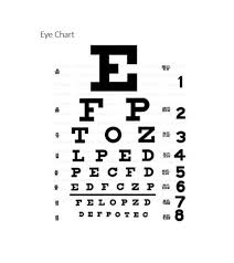 Standard Eye Test Chart Printable 50 Printable Eye Test Charts Printable Templates