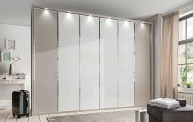wiemann all in wardrobe with glass or crystal mirror front