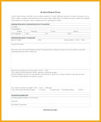 Fire Incident Report Template Form Department Sample