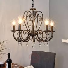 5 bulb chandelier sophina in black 9639023 01