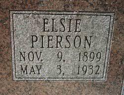 Elsie Spitzmiller Pierson (1899-1932) - Find A Grave Memorial