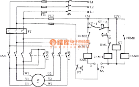 phase motor control circuit diagram info three phase motor dual speed 2y acirc150sup3 connection automatic speed wiring circuit