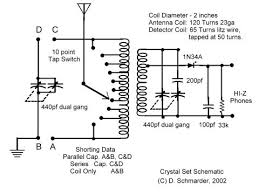 dave s homemade radios crystal schematic selector dave s 6 crystal radio schematic