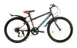 """<b>Велосипед</b> 24"""" <b>AVENGER</b> C240, черный/красный, 13"""""""