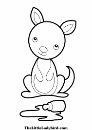Small Picture Baby Kangaroo Coloring Pages Coloring Pages