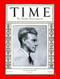 TIME Magazine Cover: Charles Lindbergh, Man of the Year - Jan. 2, 1928 -  Charles Lindbergh - Person of the Year - Aviation