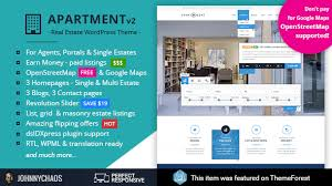 Apartment Wp Real Estate Responsive Wordpress Theme For Agents