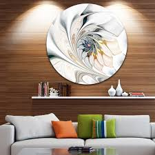 designart x27 white stained glass floral art x27 floral circle metal on metal wall art overstock with shop designart white stained glass floral art floral circle metal