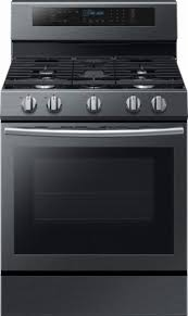 black stainless gas cooktop. Modren Black Ft Selfcleaning Freestanding Gas Convection Range  Fingerprint Inside Black Stainless Cooktop