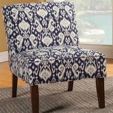 design of blue and white accent chair coaster navy white ikat fabric accent chair 902028