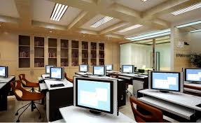 trendy office. Trendy Office Space With Shelf 3d Model Max 1 U