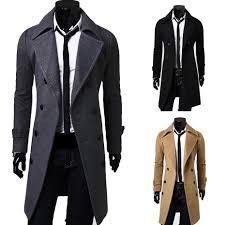 <b>ZOGAA 2019</b> Geek Mens <b>Wool</b> Coat Jacket Double breasted Mens ...
