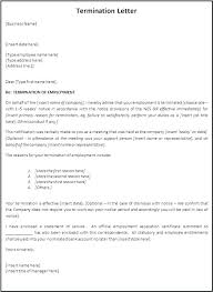 Printable Termination Letter Template Job Dismissal Sample ...