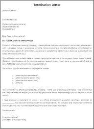 Printable Termination Letter Template Job Dismissal Sample ...