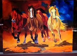 horse abstract painting decorative arts paintings abstract fine art modernism
