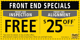 free front end inspection 25 off alignment