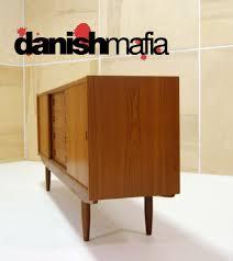 mid century danish modern teak credenza sideboard buffet