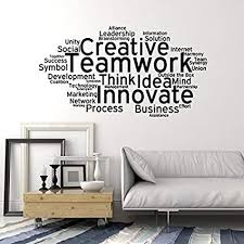 office wall stickers. Large Vinyl Wall Decal Teamwork Cloud Words Office Decoration Stickers  (ig4358) Black Office Wall Stickers C