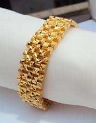 discount 24k gold watches 2017 24k gold watches on at 15mm wide 8 6 24k real yellow solid gold gf bracelet carved watch chain large men historical s championbest packaged have trackin