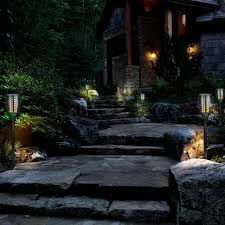 lighting tiki torches. Zugo Solar Path Dancing Flame Tiki Torch Light (2 Pack) Lighting Torches